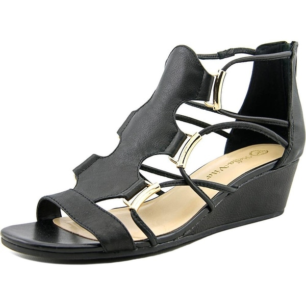 Bella Vita Isla Women Open Toe Leather Wedge Sandal