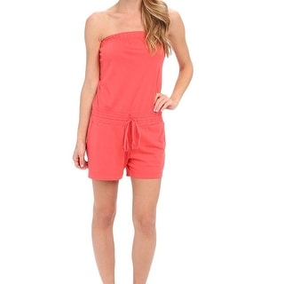 Allen Allen NEW Pink Women's Size Medium M Strapless Romper