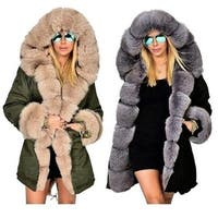 Winter Fashion Warm Women Parka Casual Fur Coats Woman Clothes