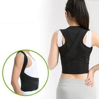 Men Women Adjustable Posture Corrector Lumbar Support Belt Shoulder Back Brace
