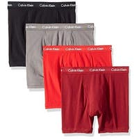 4d06ef0ae19ab6 Calvin Klein Men's Underwear Cotton Stretch 4 Pack Boxer Briefs ...