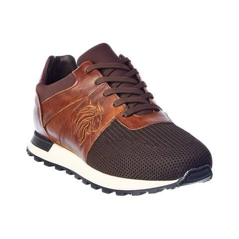 M By Bruno Magli Lugo Knit & Leather Sneaker
