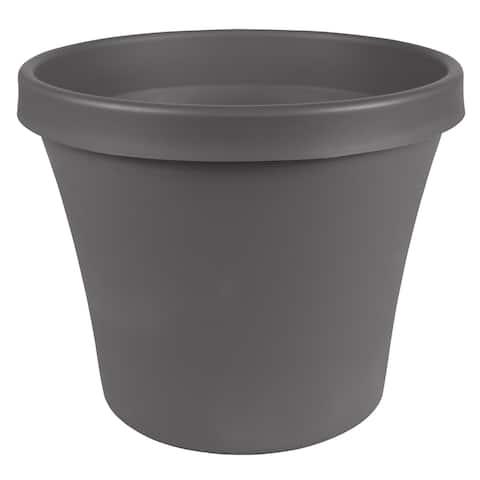 """Bloem Terra Pot Planter 14"""" Charcoal Gray - 14"""