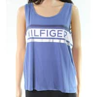 Tommy Hilfiger Blue Printed Women's Size Large L Tank Cami Top