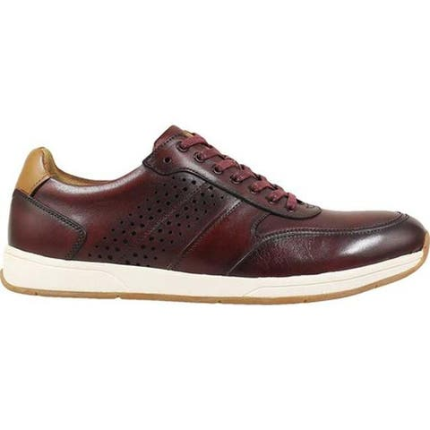 Florsheim Men's Fusion Sport Lace Up Sneaker Burgundy Smooth Leather
