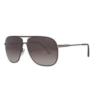 Tom Ford Dominic TF451 49K 60mm Matte Dark Brown Gradient Aviator Sunglasses - matte dark brown - 60mm-11mm-140mm