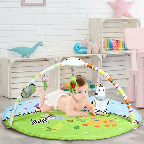 Baby Activity Educational Gym Play Mat with Hanging Toys