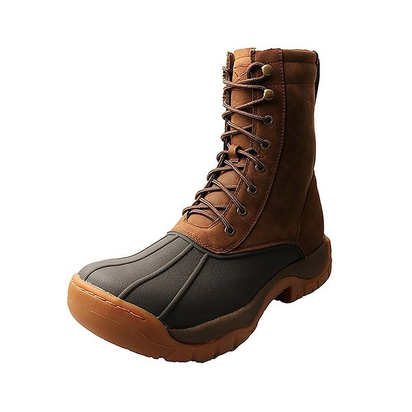 Twisted X Outdoor Boots Mens Guide Lacer Round Brown Saddle