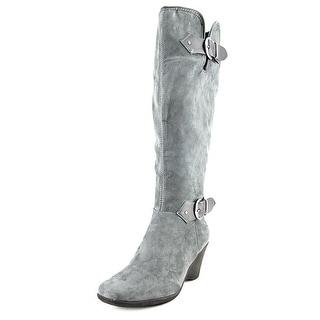 Aerosoles Wonderful Women Square Toe Canvas Gray Knee High Boot