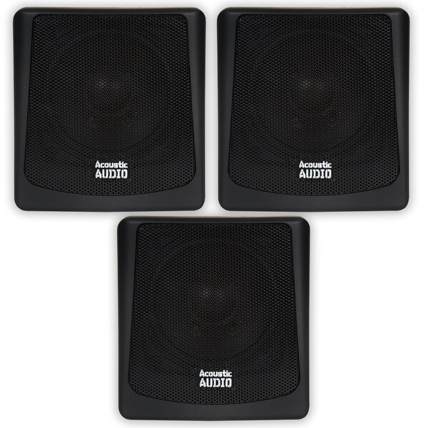 Acoustic Audio AA051B Mountable Indoor / Outdoor Speakers 3 Piece Set AA051B-3S