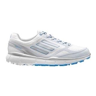 Adidas Women's Adizero Sport III White/Silver/Lucky Blue Golf Shoes Q46905