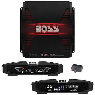 Boss PHANTOM 1500 Watts Monoblock Power Amplifier Remote Subwoofer Level Control