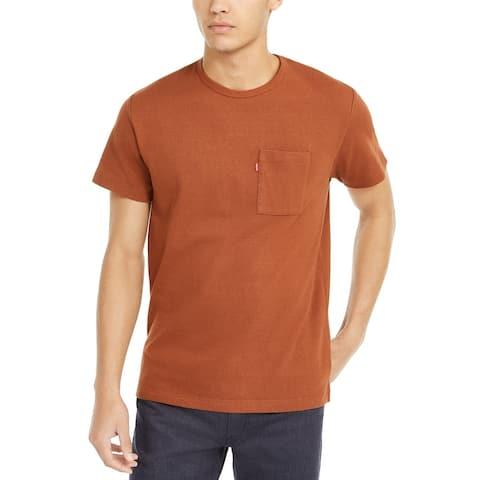 Levi's Men's Heavyweight Pocket T-Shirt Tortiose Shell Size Large