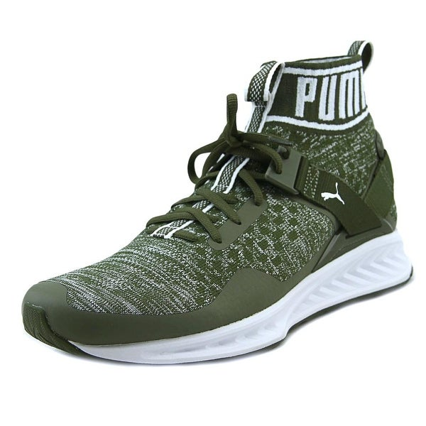 Puma Ignite EvoKnit Olive Night-Quarry-White Sneakers Shoes