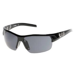 5f44dfe80189 Harley-Davidson Women's Winged B&S Sunglasses, Shiny Black Frame & Smoke  Lens - 72