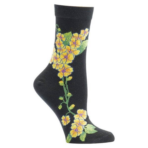 Women's Witches' Garden and Apothecary Floral Socks - Cotton - Primrose