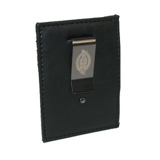 Dickies Men's Front Pocket Wallet with Metal Money Clip - Black - One size