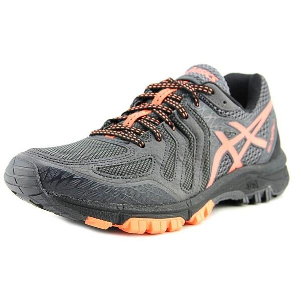 Asics Gel Fuji Attack 5 Men Dark Grey/Hot Orange/Black Running Shoes
