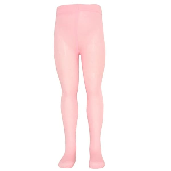 Mopas Baby Girls Pink Opaque High Waisted Stretchy Footed Tights 0-12m - 0-12 months