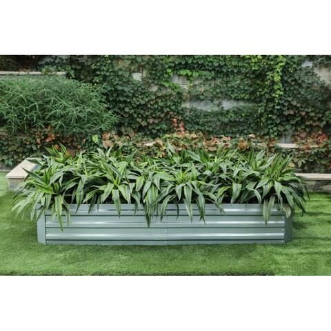 72in Galvanized Rectangular Raised Garden Bed