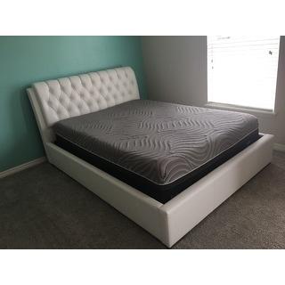Strick & Bolton Cheri White Queen-size Platform Bed