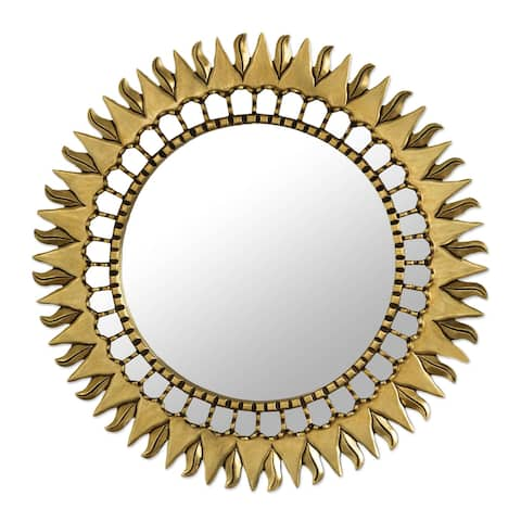 NOVICA Inca Sunburst Mohena Mirror