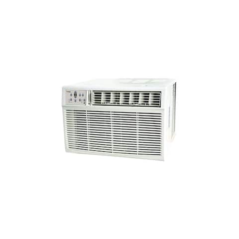 Koldfront WAC25001W 25000 BTU 208/230V Window Air Conditioner with 16000 BTU Heater and Remote Control - White