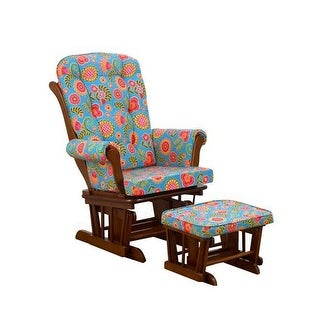 Cotton Tale GPGI Gypsy Glider with Ottoman, Floral Pecan - Small