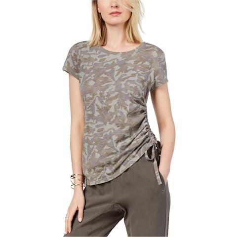 I-N-C Womens Side Ruched Embellished T-Shirt