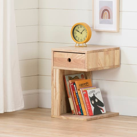 South Shore Sweedi Solid Wood 1-Drawer Nightstand