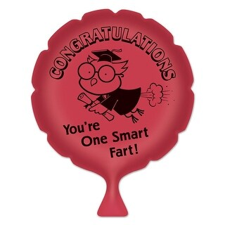 "Pack of 6 Red ""You're One Smart Fart!"" Whoopee Cushion Graduation Party Favors 8"""