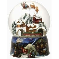 Musical & Animated Victorian Christmas Village Snow Globe Glitterdome - multi