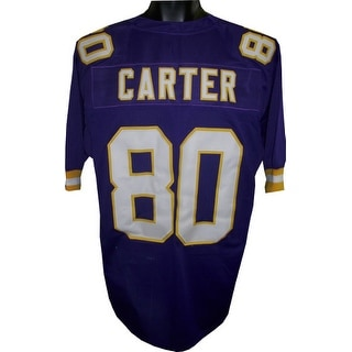 Cris Carter unsigned Purple TB Custom Stitched Pro Style Football Jersey XL