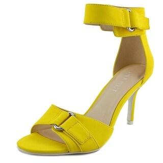 Nine West Gainey Women Open Toe Synthetic Yellow Sandals