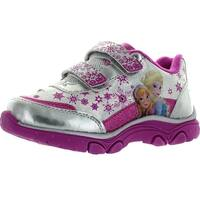 Disney Frozen Ch70501b Girls Fashion Elsa And Anna Sneakers - white/purple/silver