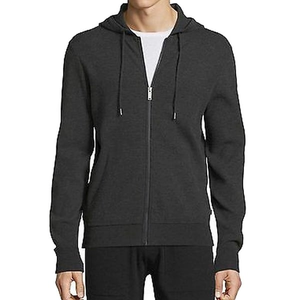 5a39a20366d168 Shop Michael Kors NEW Gray Mens Size Large L Hoodie Full Zip Sweater ...