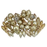 36-Piece Gold Collection Asymmetrical Christmas Ornament Set