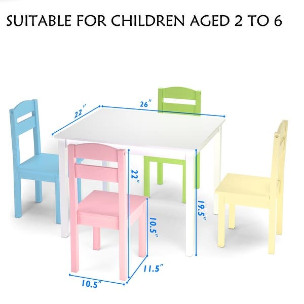Wood Table Chair Set Activity Toddler