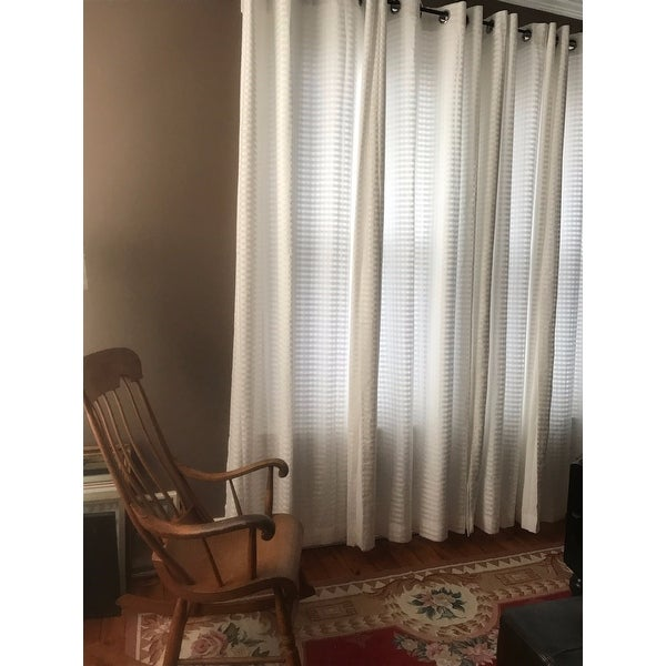 aurora home mix u0026 match curtains nordic white privacy and sheer grommet curtain panel pair set of 4 free shipping today
