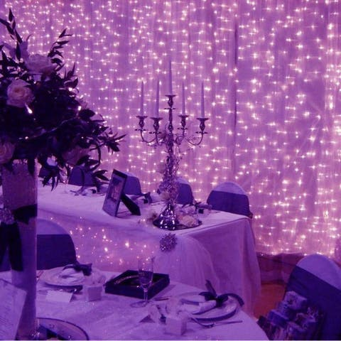 300 Led Icicle String Curtain Lights for Indoor - Purple - Medium