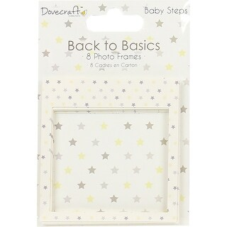 Dovecraft Back To Basics Photo Frames 8/Pkg-Baby Steps