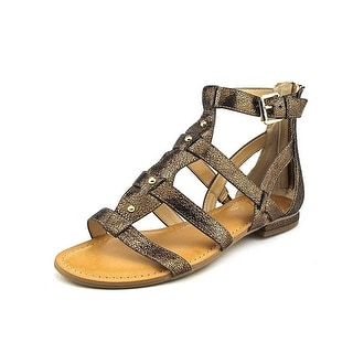Marc Fisher Womens Brandi 2 Open Toe Casual Gladiator Sandals Gold Size 75 OA