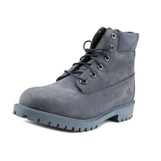 Timberland 6 Inch Prem  Youth  Round Toe Suede Blue Boot