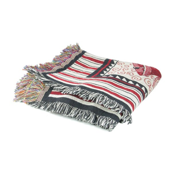 """Red and Black """"LET IT SNOW BLANKET"""" Tapestry Throw Blanket 61' x 74"""""""