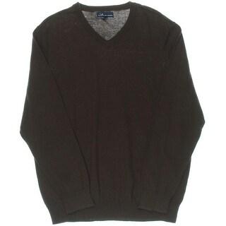 John Ashford Mens V-Neck Cotton Pullover Sweater