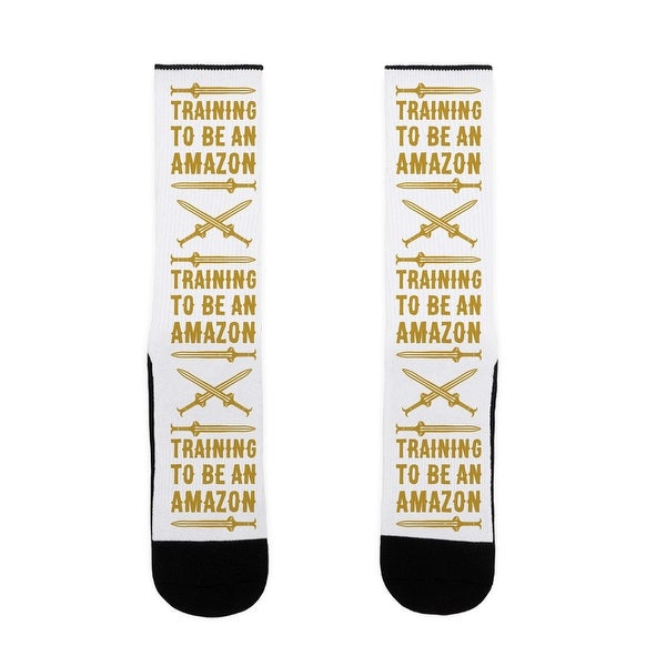 Training To Be An Amazon Parody US Size 7-13 Socks by LookHUMAN