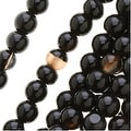 Black And White Botswana Agate 4mm Round Beads - 15.5 Inch Strand - Thumbnail 0