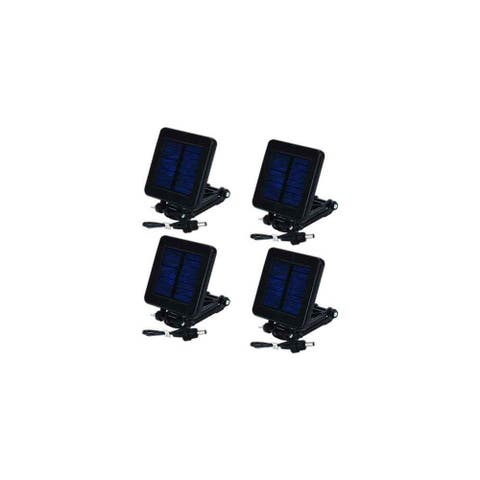 Moultrie MFHP12349 Deluxe Solar Panel Attached with External Power Port & Trickle Charge - (4-Pack)
