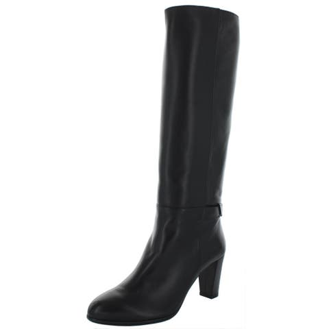 Alexandre Birman Womens Rachel Over-The-Knee Boots Leather Tall - Black Nappa