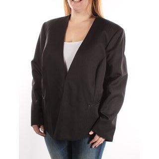 $120 TAHARI Black Blazer Wear To Work Jacket 20 B+B